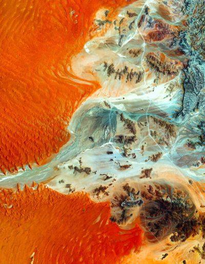 Aerial photo of Hardap Region, Namibia