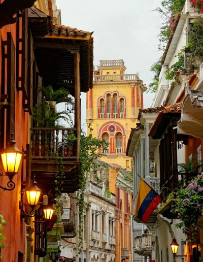 Colombian alley in Cartagena