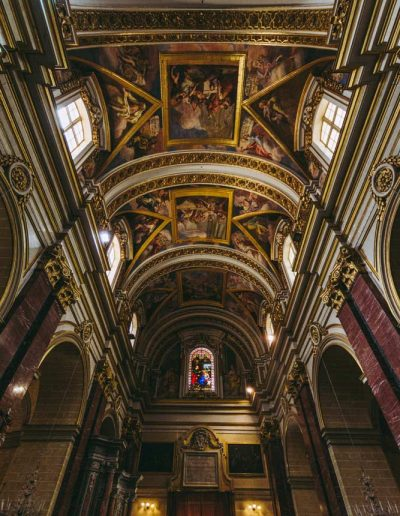 The roof of St Paul's Cathedral, Mdina, Malta