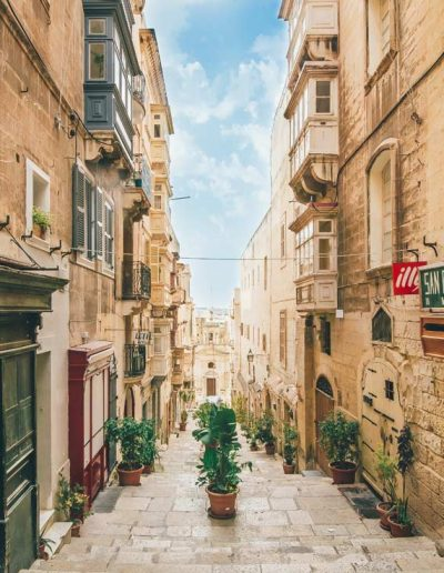 Your view walking down the streets of Vallatta, Malta