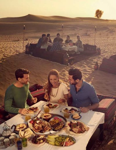 Eating in the desert — UAE, Equifax Tourism & Travel LLC